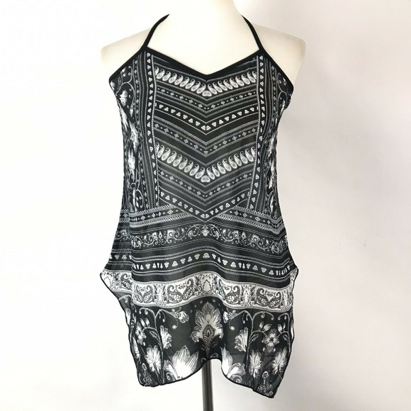 Maurices Tops - Maurices Halter Top Size Small Boho Printed